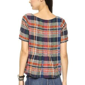 Ace & Jig Shop Tee in Cabin Plaid